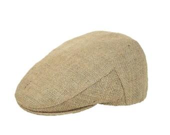 """Upcycling flat Cap Flatcap """"Café espresso""""-subject """"Plain"""" (size: 60 cm)"""