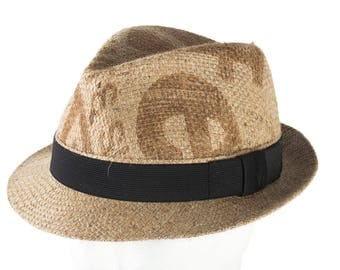 """Trilby hat """"Corretto coffee"""" - subject """"Caffex"""" - from coffee bag (size: 59 cm)"""