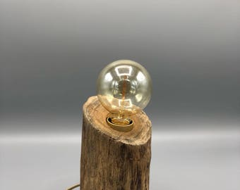 Table Lamp with wooden stub