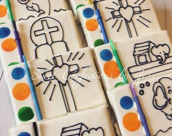 Christening Paint Cookies