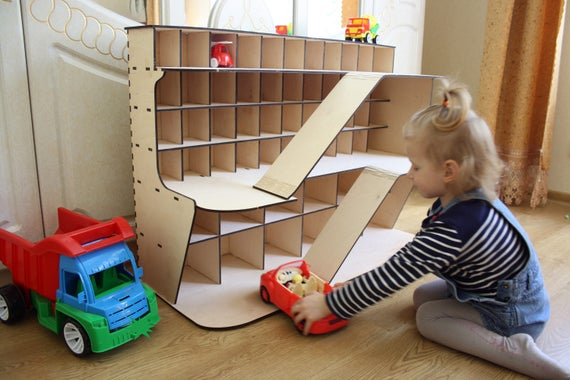 Wooden Toy Car Shelf : Items similar to toy car storage monster jam truck