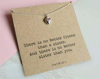 Personalised Sister Necklace - Sister Gift - Sister Necklace - Sister Jewellery - Special Sister - Sister Birthday Gift - Gift For Sister