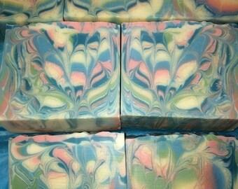 Sea Island Cotton- Handmade, Cold process soap.