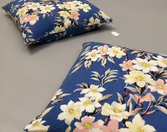 1950s floral cushion cover