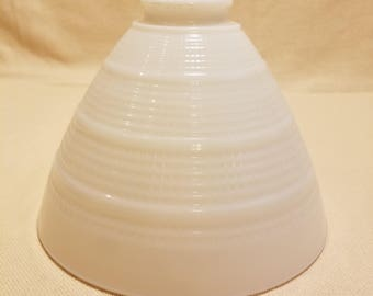 Vintage White Milk Glass Torchiere Lamp Shade