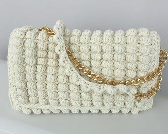 Crochet bag, Bags, Luxury bug, Crochet handbag, Handmade crochet, Made in Grecce, Shoulder bag, Shoulder bag