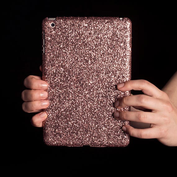 glitter ipad case for ipad mini air pro rose gold. Black Bedroom Furniture Sets. Home Design Ideas