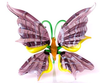 Butterfly Figurine Blown glass insect