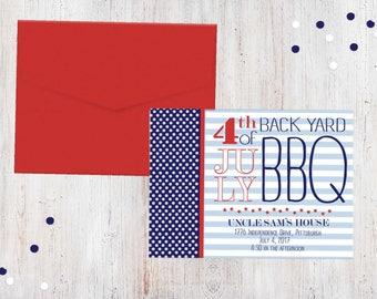 Party Invitation - Patriotic BBQ {Customized Printable Invitation}