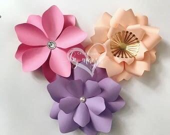 Mini paper flower cuts outs / DIY mini paper flowers