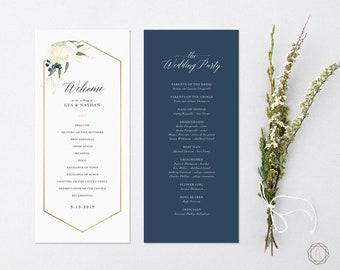 Wedding Program, Order of Service, Program Template, Ceremony Program, Wedding Timeline, Program Timeline, Printable Wedding Program, #PNG