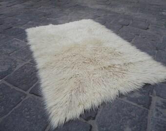 Kilim rug,Hand woven konya tülü-filik-bed rug,long pile rug,shaggy rug 67'' x 45'' inches,area rug,boho rug !!!
