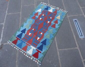 Kilim rug,doormat ,bathroom rug,FREE SHIPPING !!! 42 x 26 decorative small rug,christmas gift rug ,wall rug,hand made kilim rug,thin rug