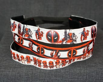 Deadpool Inspired Non-slip Headband - Action, Logo, Mini-Deadpools