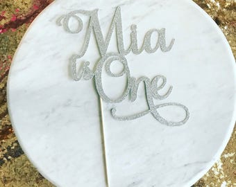 First birthday cake topper, 1st birthday cake topper, name is one cake topper, name cake topper