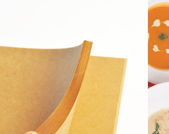 A4 Kraft paper, brown crafting paper, eco paper  for decoupage, painting, illustration, sketchbook, notebook, 100 pcs.