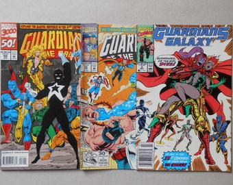 Guardians of the Galaxy #2; #32 #50; 2nd TaserFace; 1st Starks; Starhawk; Yondu; Captain America; Dr. Strange; comic lot 3; Very Fine!