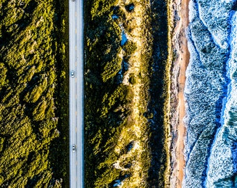 Ocean Road Aerial Photography -Beach Photography - Drone Photography - Patterns - Fine Art Photography - Aerial Photography - Fine Art