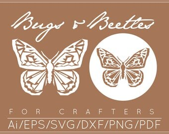 Butterfly SVG, Butterfly DXF, Butterfly Cut File, Butterfly Clipart, Butterfly Clip art, Creepy Crawly Clip Art, Insect SVG Instant Download