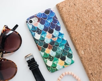 Blue Mermaid Scales iPhone Case iPhone X Case iPhone 8 Case iPhone 8 Plus Case iPhone 7 Case iPhone 7 Plus Case iPhone 6s Case iPhone 6s