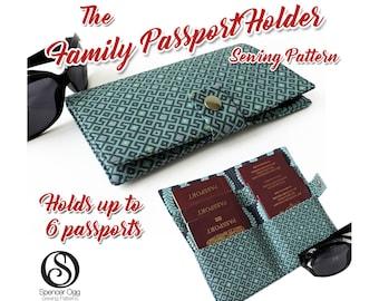 US Family Passport wallet PDF pattern. 6 Passport cover pattern. Family Passport holder pattern