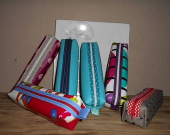 Pencil case in faux leather or oilcloth