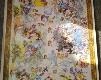 Vintage Child Nursery Print - Fairies - Gumnut Babies - Ready to frame - Decoupage
