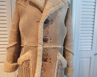 Vintage Shearling Coat, American Sheepherders, Warmest Coat,