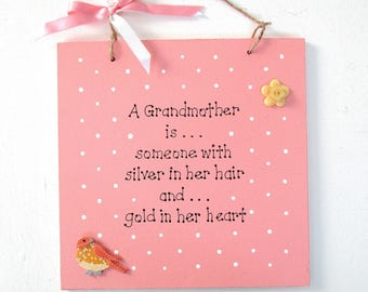Personalised Mother's Day Gift - Personalised Grandmother Plaque - Grandmother Birthday - Customised - Mum's Gift - Gift from Children