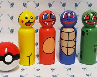 Wooden Peg Dolls - Pokemon