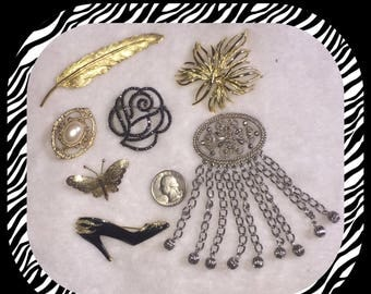 7 Vintage Brooches