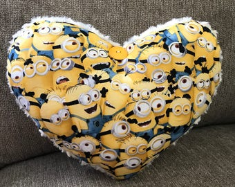 My Favorite Minions Heart Pillow is a delight for children of all ages.