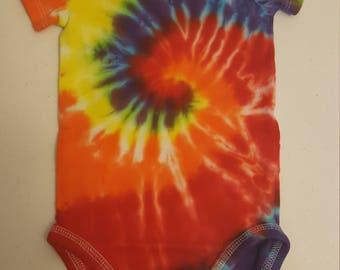 Spiral Design - Tie Dye - 9 Month - Onesie