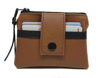 Wallet / cardholder imitation leather imitation leather brown man woman