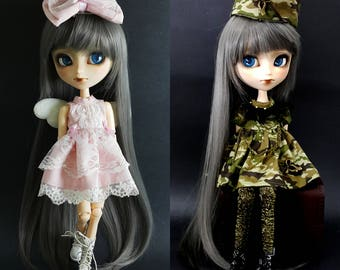 READY STOCK - Military Angel 2 pieces Dress / Outfit Set for Blythe, Icy, Pullip Doll