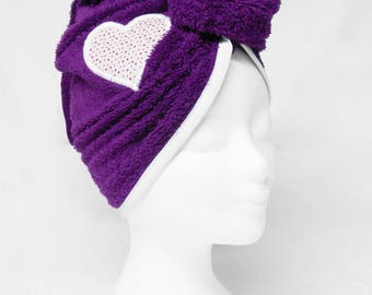 Purple bath turban
