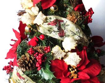 Christmas Song, tabletop Christmas Tree, Christmas Decoration, OOAK Christmas, Topiary Tree, Mini Christmas Tree, Home Decor, Handmade, Gift