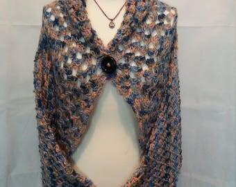 Crocheted cardigan.