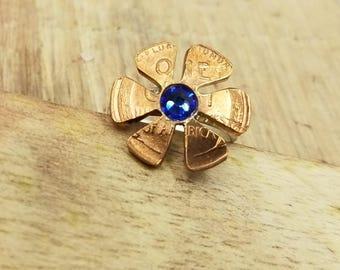 Lucky Penny Flower Ring