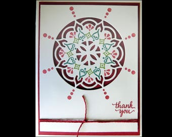 Colorful Medallion Thank You Card