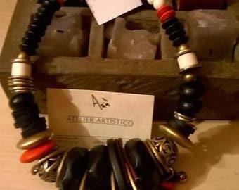 Necklace, unique pieces, tribal, gift idea
