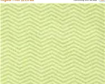 "ON SALE Moda Fabrics  ""Wee Ones""  Zig Zag   Green Flannel   Remnant"