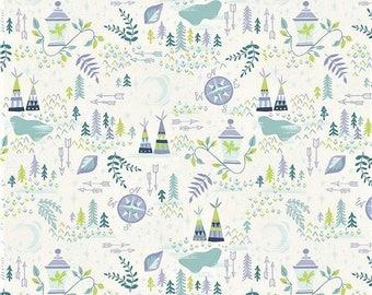 "Riley Blake  By Jill Howarth      ""Neverland - Lantern""    Cream  Cotton Fabric"