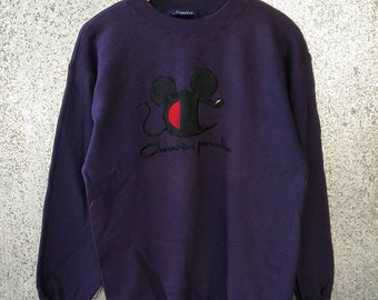 Vintage Caracter Paradise jumper / Mickey Mouse cartoon jumper / sweatshirt champion big logo