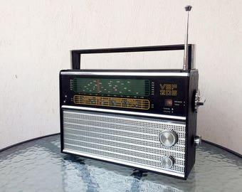 Vintage radio VEF 206 Radio receiver USSR radio Collectible radio Vintage speaker Old radio Communist propaganda radio Home decor Gift idea