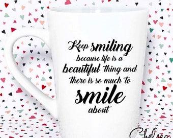 Keep Smiling Mug - Marilyn Monroe Quote - Marilyn Monroe Mug - Marilyn Monroe Gift - Marilyn Monroe - Gift For Mom - Mug - Mothers Day Gift