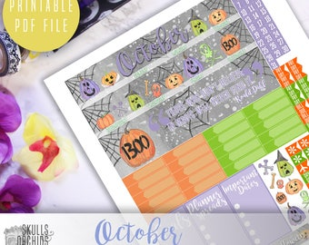 50% OFF! HAPPY PLANNER October Monthly View Kit – Printable Planner Stickers