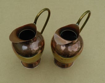 Ornamental Jugs - Copper & Brass - Vintage Copper - Vintage Brass