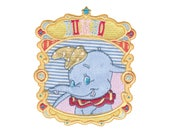 Iron On Applique, Official DISNEY Iron On Patch, Dumbo Portrait, Dumbo Applique, Dumbo Patch, Kids Patch
