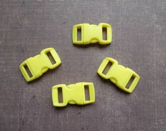 Lot 8 clips clasp bag yellow Paracord Bracelet